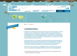 Zauberwelt Website Lernmaterial